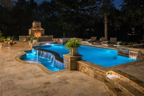 swimming pool  outdoor living space designed  built