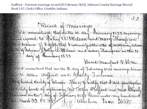 Franklin County Marriage Records Allen Stafford