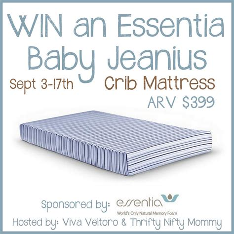 Essentia Baby Jeanius Crib Mattress Giveaway Ends 9 17 Crib Mattress Reviews 2013