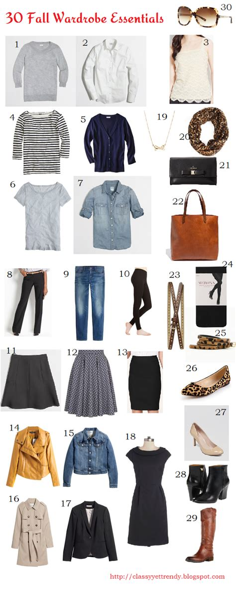 Wardrobe Essentials For In Their 30s by 30 Fall Wardrobe Essentials Yet Trendy