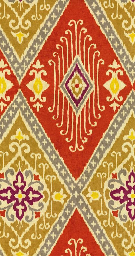 iman home decor home decor print fabric iman ikat diamond spice at joann com
