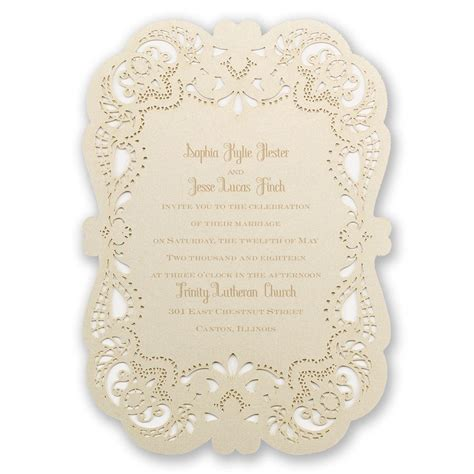 Paper Lace Wedding Invitations by Opulent Lace Laser Cut Invitation Invitations By