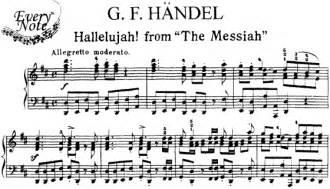 Handel hallelujah from quot the messiah quot piano sheet music download