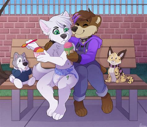 furry in diapers ice cream commission by strawberryneko33 deviantart com