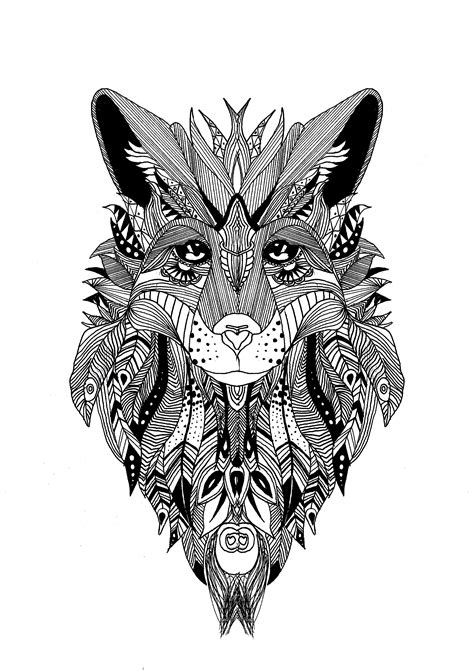 zentangle wolf krissy zentangle coloring pages for