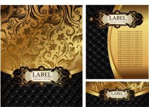 free vector がらくた素材庫 金色の装飾がゴージャスな背景 european gorgeous