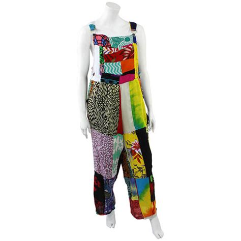 Patchwork Dungarees - patchwork dungarees handmade fair trade balinese from siesta