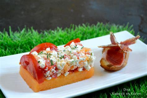 recette de cuisine am駻icaine melon recette melon feta tomates et jambon cru kaderick