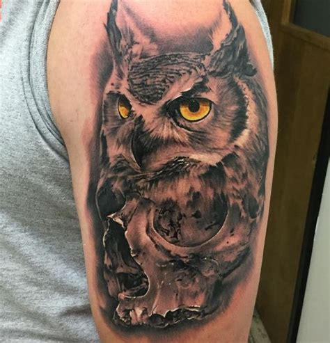 angry owl tattoo inkstylemag inkstylemag