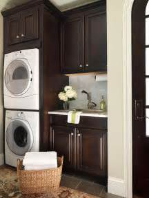 Bhg Kitchen And Bath Ideas espresso cabinets transitional laundry room bhg