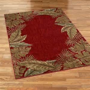 pet friendly sarasota tropical leaf area rugs