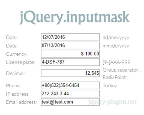 jquery format date phpsourcecode net jquery inputmask date phpsourcecode net