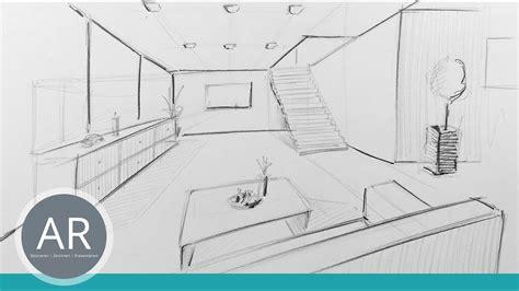 wohnzimmer zeichnen raum in zentral perspektive innenarchitektur zeichnungen