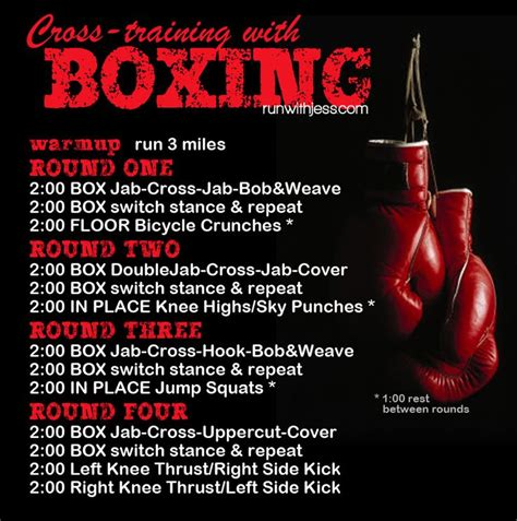 great run boxing workout workouts