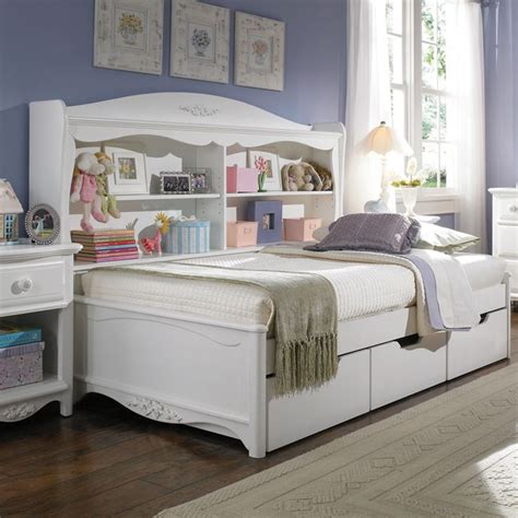 girls bed with drawers twin platform bed with drawers lea furniture haley