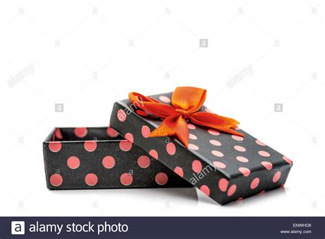 colorful ribbons presents the orange journey the beginning volume 1 books black gift box with pink dots and orange ribbon isolated