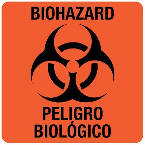 Stock United Healthcare Bilingual Biohazard Warning Label 3 Quot X 3 Quot United Ad Label