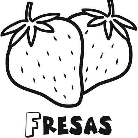 imagenes para colorear fresa fresas para pintar