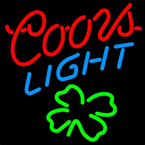 coors light neon sign coors light shamrock neon sign neon