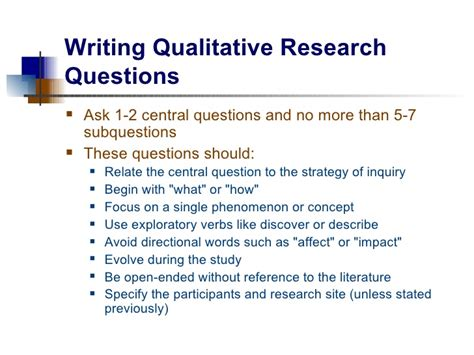 qualitative questionnaire template research questions and hypotheses