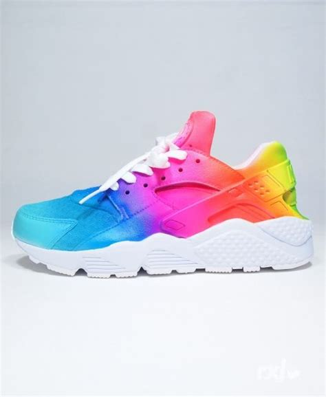 rainbow nike sneakers nike air huarache trainers rainbow fashinable shoes cheap