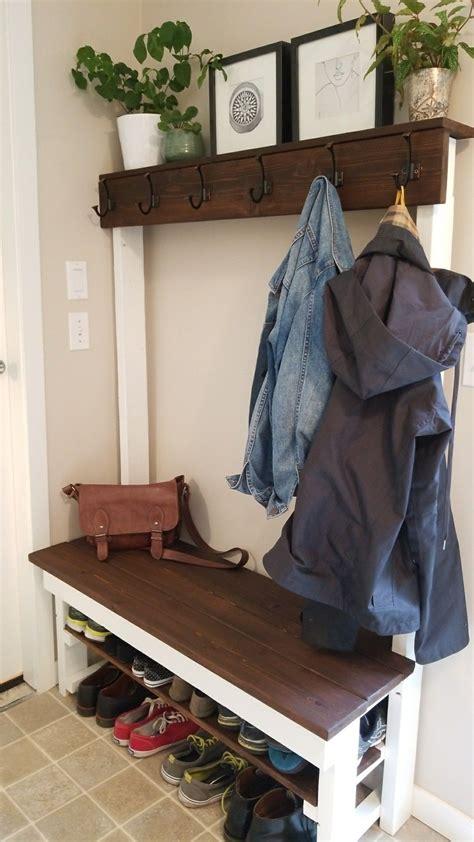 entry  shoeshelf coat rack bench diy