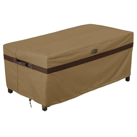 Patio Coffee Table Cover Classic Accessories Ravenna Rectangular Patio Coffee Table Cover 55 327 015101 Ec The Home Depot