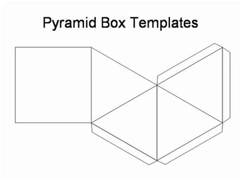 How To Make An Pyramid Out Of Paper - pyramid box template
