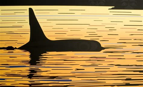 Sunset Orca Pin Warrior Pins - quot orca sunset quot roy henry vickers by the sea