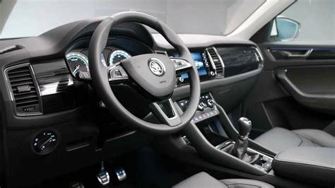 skoda kodiaq interior 2017 skoda kodiaq interior footage
