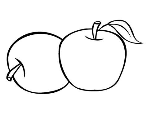 parecer dibujos manzanas para colorear