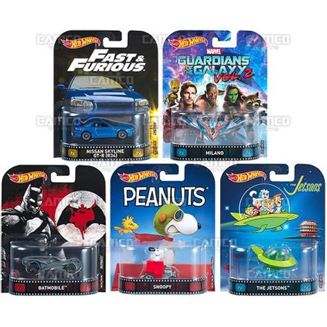 Hotwheels Retro Set Snoopy Jetsons set of 5 2017 wheels retro entertainment c