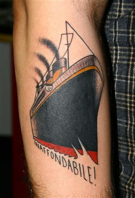 tattoo me 48 hour liner titanic tattoo unsinkable tatuaje titanic inhundible
