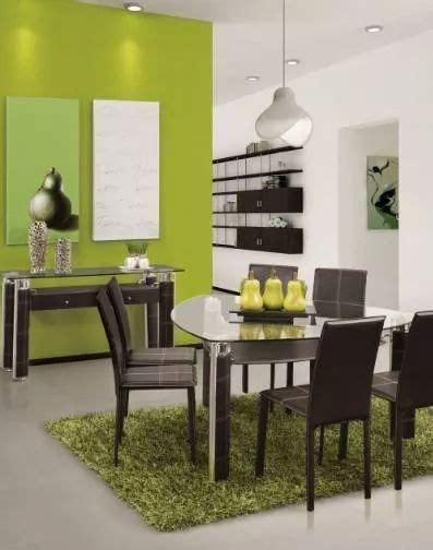 comedor triangular muebles en  room decor green