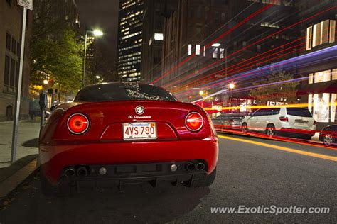 alfa romeo 8c spotted in boston massachusetts on 10 31 2014