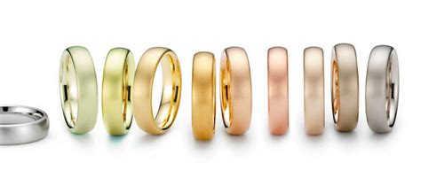 different colors of gold colors of gold white gold gold pink gold and green