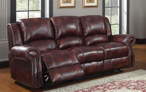 Burgundy Leather Reclining Sofa Homelegance Quinn Reclining Sofa Burgundy Polished Microfiber 9708pm 3