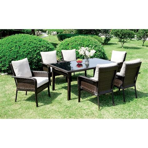 7 Pc Patio Dining Set Shakira 7 Pc Patio Dining Set Outdoor Seating D L Furniture