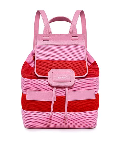 Striped Backpack boutique moschino honeycomb striped backpack ifchic