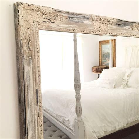 antique white distressed mirror shabby chic mirror bathroom