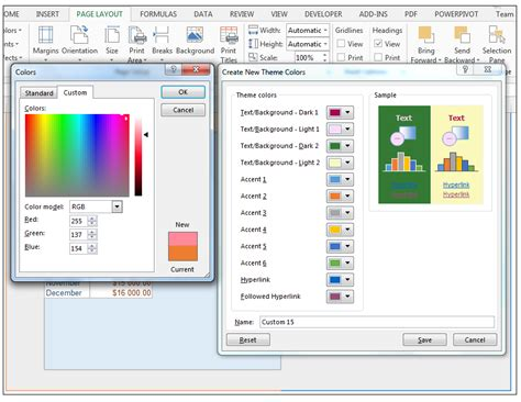 excel edit themes how to modify theme color font effects create custom