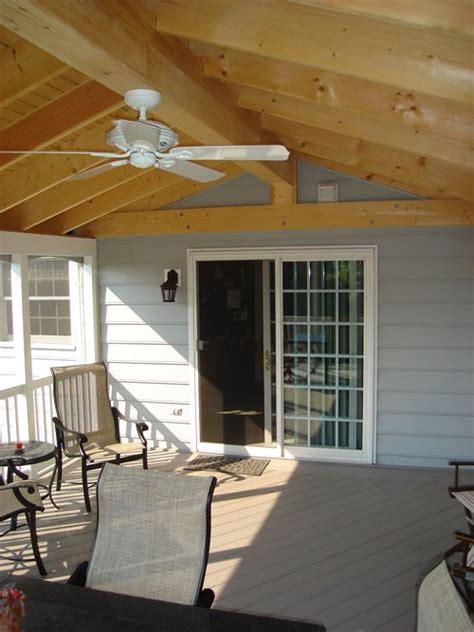 sunroom fan gable roof sunroom w ceiling fan angle 2 home outdoor