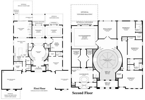 luxury floor plans for new homes toll brothers home designs merscille floorplan at