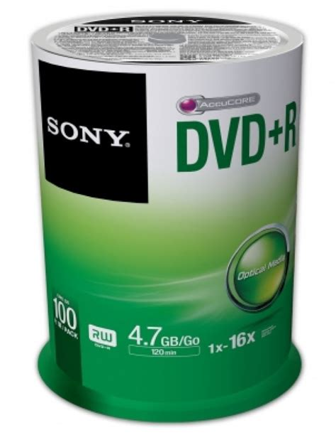 Sony Dvd R Kosong 50 Pack White sony 16x dvd r 4 7gb 100 pack spindle ebuyer