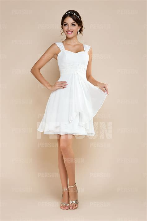 Robe Blanche Simple Pour Mariage - robes invit 233 s mariage pas cher