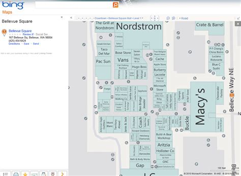 southcenter mall map bellevue square mall store map pictures to pin on pinsdaddy