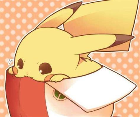 cute pikachu cute pikachu with hat by pikachu nibbling on ash s hat too cute pokemon pokemon