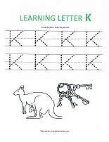 letter k tracing worksheets new calendar template site