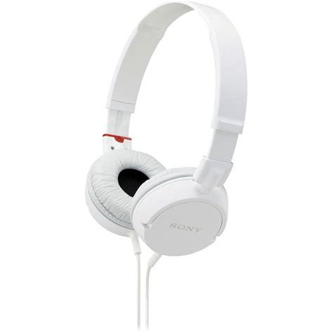 sony mdr zx100 stereo headphones white mdrzx100 whi b h photo