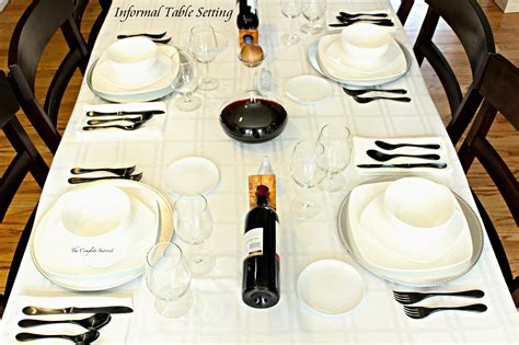 set the table in how to set an informal table the complete savorist
